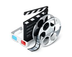 biografkoncept realistiskt vektor