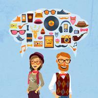 Hipster-Sprechblase
