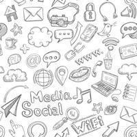 Social sömlös Doodle