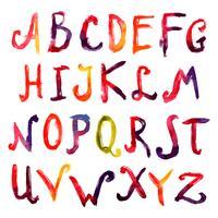 Handdragna alfabetet vektor