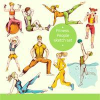 Fitness-Skizze farbig