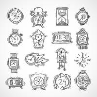 Uhr Icons Set