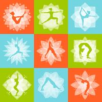yoga designkoncept vektor