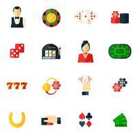 Casino-Symbol flach