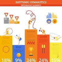 Gymnastik Infografiken Set