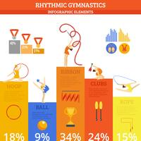 Gymnastik Infographics Set