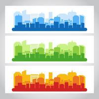 Landschaft Stadt Banner Farbe vektor