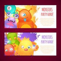 Monsters horisontella banderoller