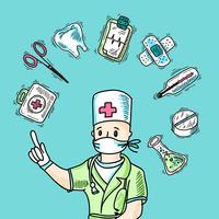 Medicinsk designkoncept vektor