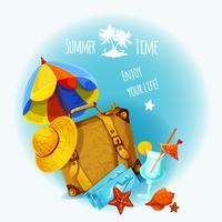 Sommerferien-Hintergrund