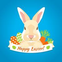 Kaninchen Ostern Label vektor