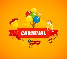 Karneval-flacher Hintergrund