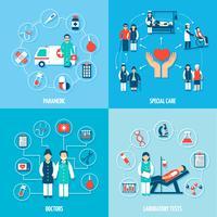 Medicinsk personal uppsättning vektor