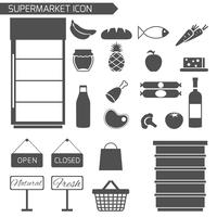Supermarkt-Icon-Set