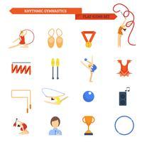 Gymnastik-Symbol flach
