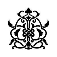 Abstrakt arabisk tatuering vektor