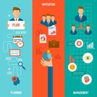 Management Banner gesetzt vektor