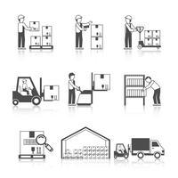 Warehouse-Symbol Schwarz vektor