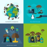förorening ikon platt