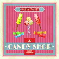 Süßes Ladenplakat