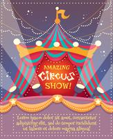 Zirkus-Weinlese-Plakat vektor