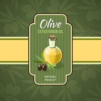 Olivenöl-Abzeichen vektor