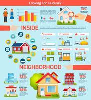 Gebäude Infografiken Set