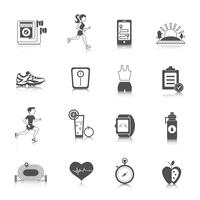 Jogging Icons Schwarz