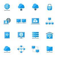Netzwerk-Icons Set