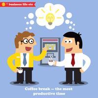 Kaffeepause Zusammenarbeit vektor