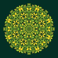 Rundes Muster im islamischen Stil