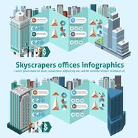 skyskrapa kontor infographics