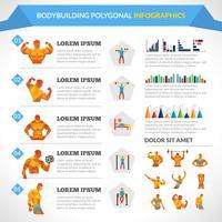 bodybuilding polygonal infographics