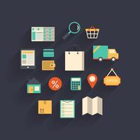 E-handel element vektor