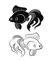 guldfisk vektor