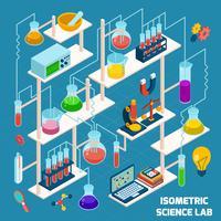 isometrisk vetenskapslaboratorium vektor