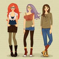 Moderne Mädchen vektor