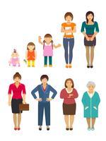 generation kvinnor platt vektor
