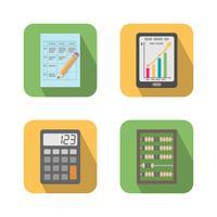 Sats av finansiella affärsverktyg vektor
