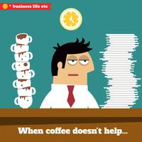 Ermüdete und erschöpfte Führungskraft spät bei der Arbeit