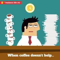 Utmattad och utmattad verkställande sent på jobbet