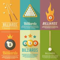 Billard-Poster-Set vektor