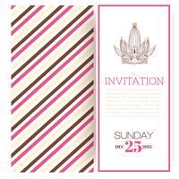 Striped princess inbjudan mall