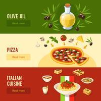Italiensk mat Banner Set vektor
