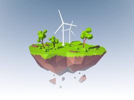 Ekologi Island Concept vektor