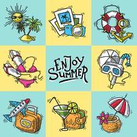 Urlaub dekorative Symbole