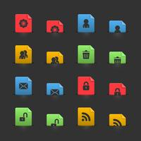 Website-UI-Elemente zum Verschieben von Stubs vektor