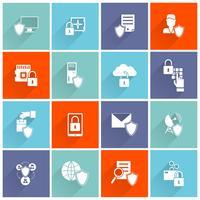informationssäkerhetsikonen platt vektor