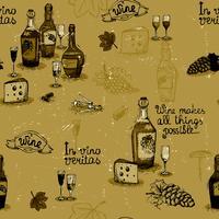Weinstillleben Monochrom