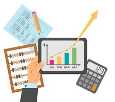 Finansiell affärsplan vektor